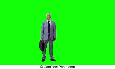 Manager in slow motion throwing his briefcase