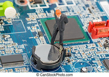 manager on computer board