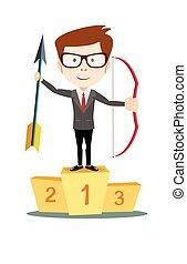 man winner on the podium