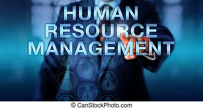 Manager Pressing HUMAN RESOURCE MANAGEMENT - Male manager is...