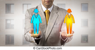Manager Ranking Two Female Workers On Same Level