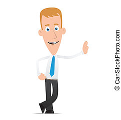 Manager stands next to a blank place - Illustration of a...