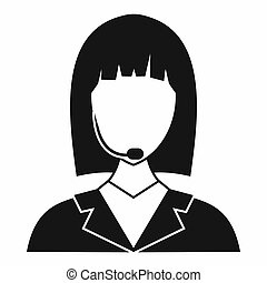 Manager taxi icon, simple style