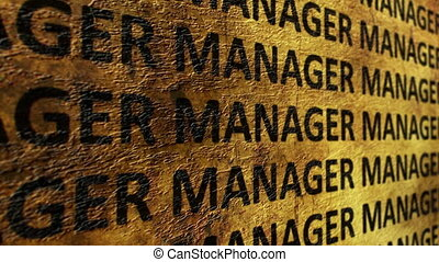 Manager text on grunge background