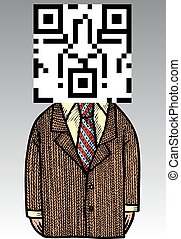 manager with barcode