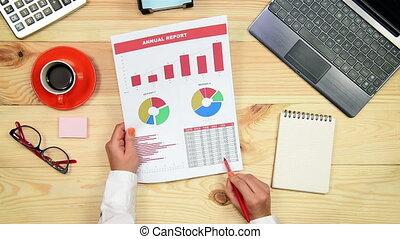 Manager Woman Monitoring Stock Char - Manager Monitoring...
