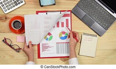 Manager Woman Monitoring Stock Charts