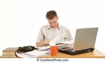 Manager Working In Office