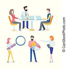 managers, en, vakmensen, op, conferentie, cursus