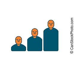 managers, segno, affari, carriera, scala, concetto, Passi, amministrazione, icona, Simbolo