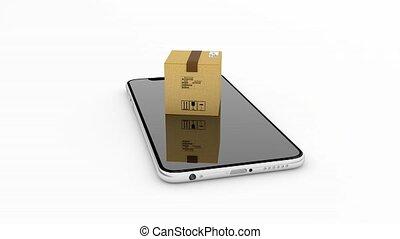 Managing mail logistics through the phone, smartphone. 131...