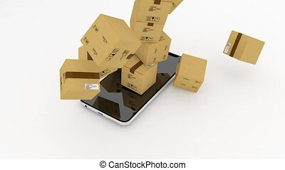 Managing mail logistics through the phone, smartphone....
