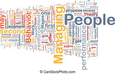 Managing people background concept - Background concept...