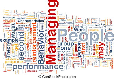 Managing people background concept