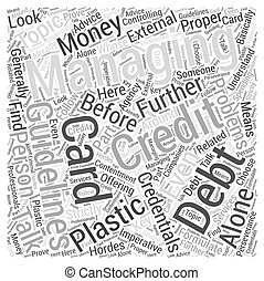 Managing Your Plastic Money Problems Alone Word Cloud Concept