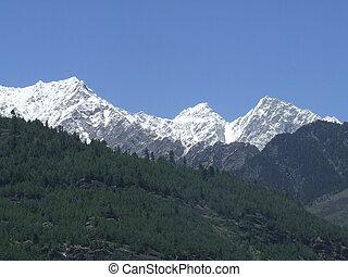 Manali snow peaks