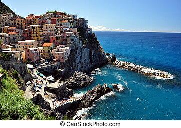 Manarola, Cinque Terre, Italy - Manarola fishermen village...