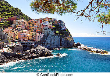 Manarola, Cinque Terre - Manarola fisherman village in...