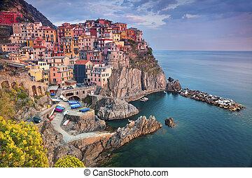 Manarola. - Image of Manarola, Cinque Terre, Italy, during...