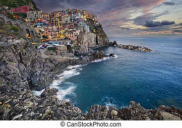 Manarola. - Image of Manarola (Cinque Terre, Italy), during...
