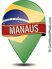 MANAUS brazil glossy web pin