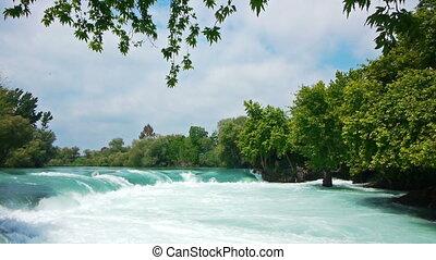 Manavgat waterfall near Side in Turkey