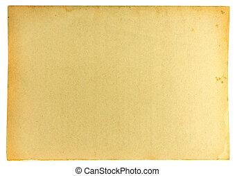 mancha, papel, viejo, plano de fondo