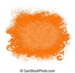 mancha, plano de fondo, pintura, grunge, naranja
