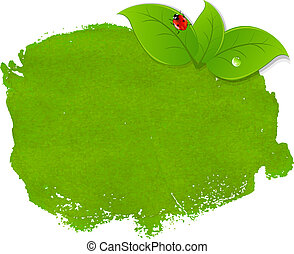 mancha, verde, hojas