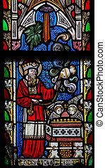manchado, 7:35, verso, retratar, biblia, ventana, leviticus, vidrio