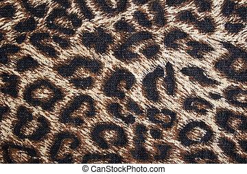 manchado, leopardo, tela, plano de fondo