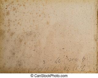 manchado, papel, antiga, fundo