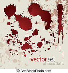 manchas, conjunto, salpico, sangre, 7