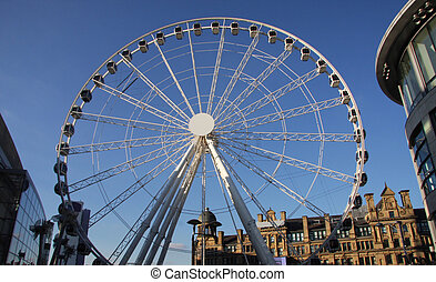 Manchester eye, big wheel in the city centre of manchester