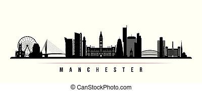 Manchester city skyline horizontal banner.