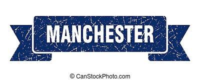 manchester, grunge, azul, ribbon., banda, señal
