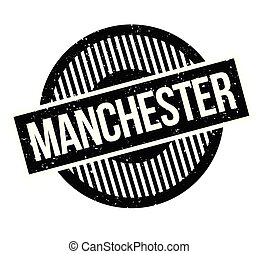 United Kingdom Manchester Rubber Stamp Blue Seal With