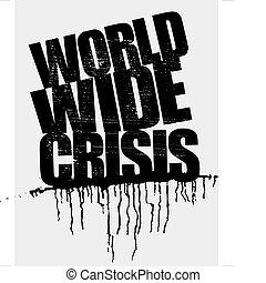 manchete, mundo, crise, largo