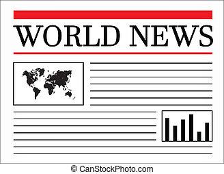 manchete, mundo, notícia