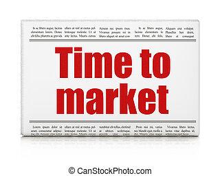 manchete, timeline, mercado, tempo, jornal, concept:
