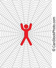 mand, entangled, ind, en, cobweb