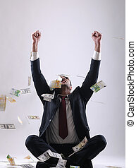 mand, holde penge, firma