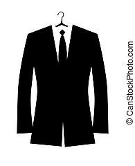 mand, jakke, by, din, konstruktion