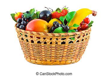 mand, met, vruchten