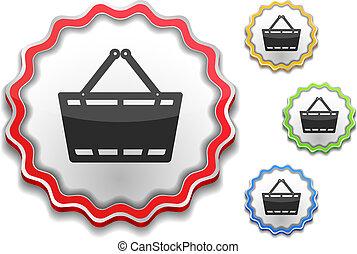 mand, pictogram, shoppen , etiket