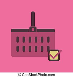 mand, plat, supermarkt, pictogram