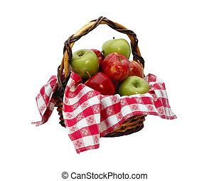 mand, steegjes, af)knippen, appel