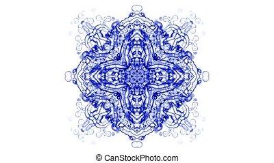 manda, cristal, fleur, verre, religion