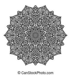 mandala, ベクトル, illustration.