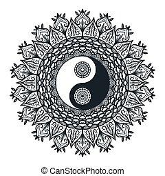 mandala, 型, yin yang